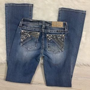 Miss Me Jeans Boot Tribal Embellished Women sz 26